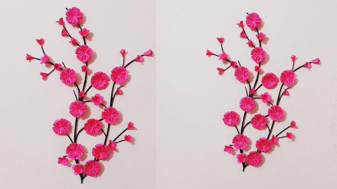 wallmate/paper wallmate/paper wall hangings/wall hanging craft ideas/paper flower wall hanging #137