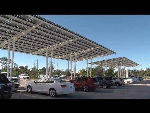 Naples Zoo adds solar panels to parking lot
