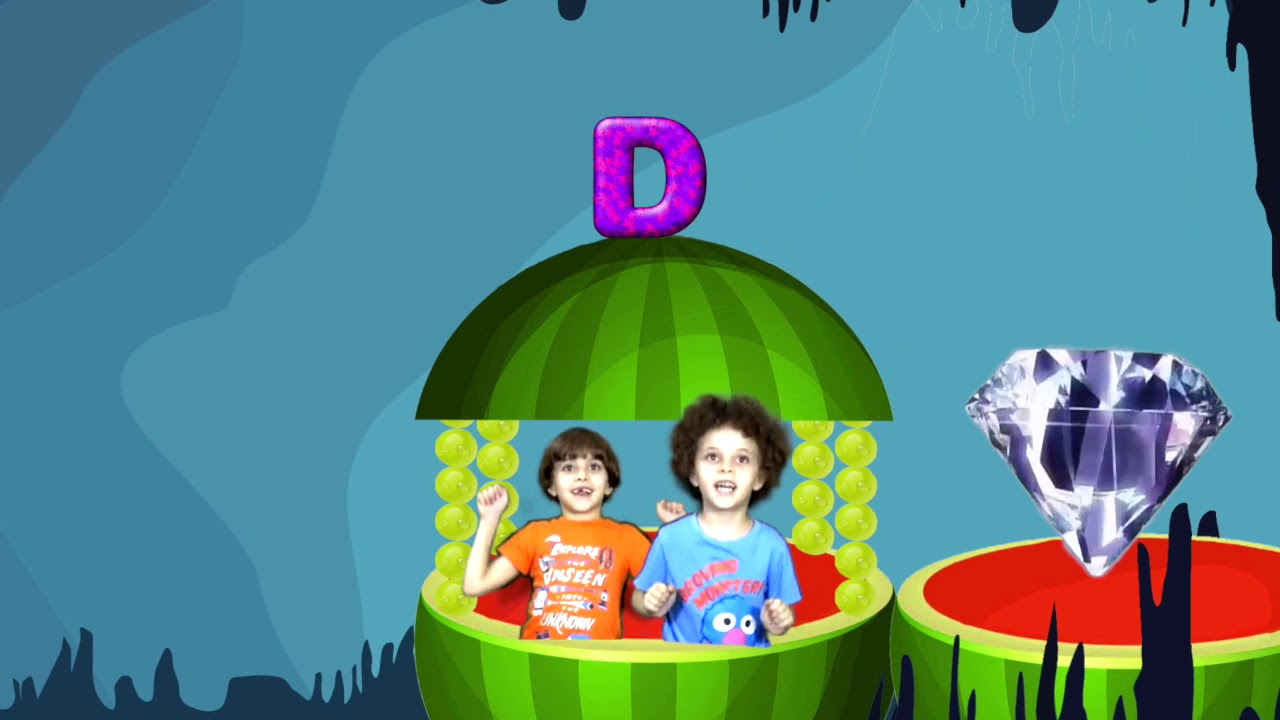 Kids driving watermelon train and having exciting adventures with letter D | Andrew Max Show