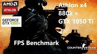 CS:GO - AMD Athlon x4 880K 4.5Ghz - Palit GTX 1050Ti Dual OC - Max graphics 1080p