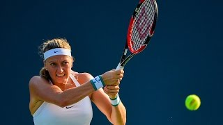 2016 Connecticut Open Quarterfinals   Petra Kvitova vs Ekaterina Makarova   WTA Highlights