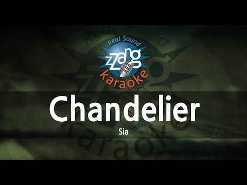 Sia-Chandelier (MR) (Karaoke Version) [ZZang KARAOKE]