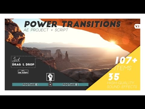 Power Transition V1 - After Effects project + Script - Download link in description