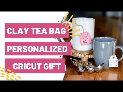 Easy Cricut Project - Clay Tea Bag Personalized Cricut Gift!