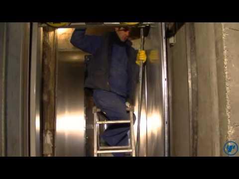 Сборка кабины лифта.