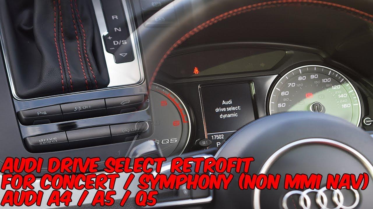 Audi Drive Select >> Audi Drive Select Button Retrofit For Concert Symphony A4 A5 Q5
