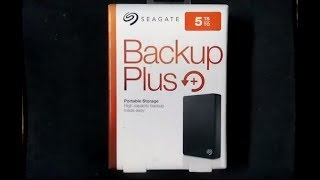 Unboxing and review of Seagate 5TB Backup plus portable storage hard disk