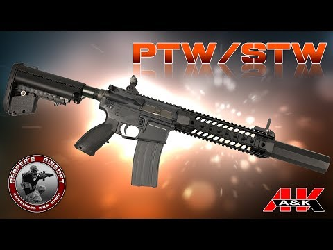 Review A&K K4 PTWSTW Spider SAEG  6mm AirsoftSoftair  4K UHD