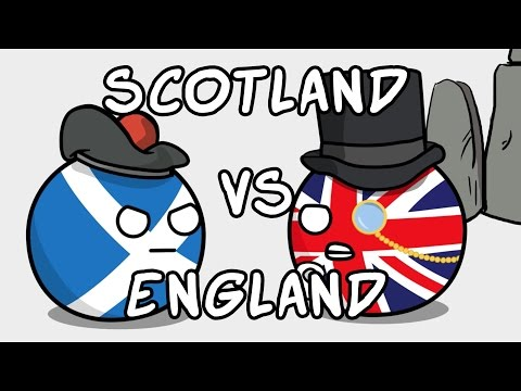 England and Scotland relationship - Countryballs