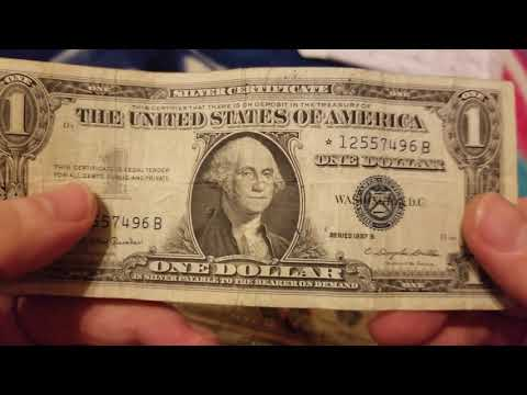 1 Dollar Silver Certificate Star Note