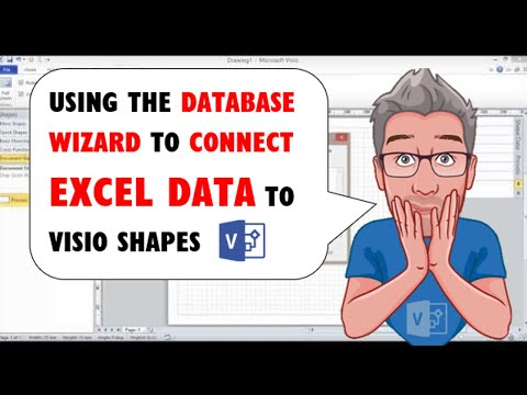Visio: Using the Database Wizard to Connect Excel Data to Visio Shapes