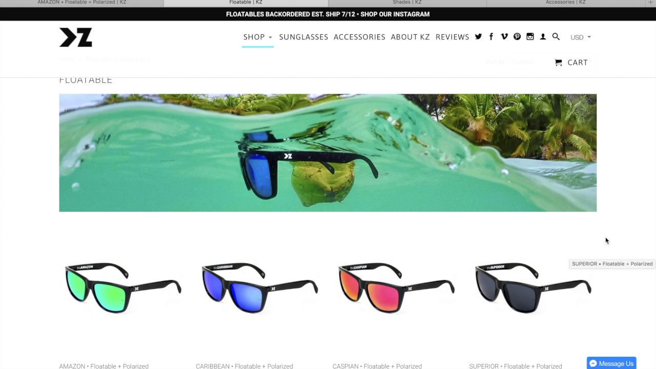 40165c8e3c0ff 1 Month Review of the KZ Gear Flotable Amazon Sunglasses - YouTube