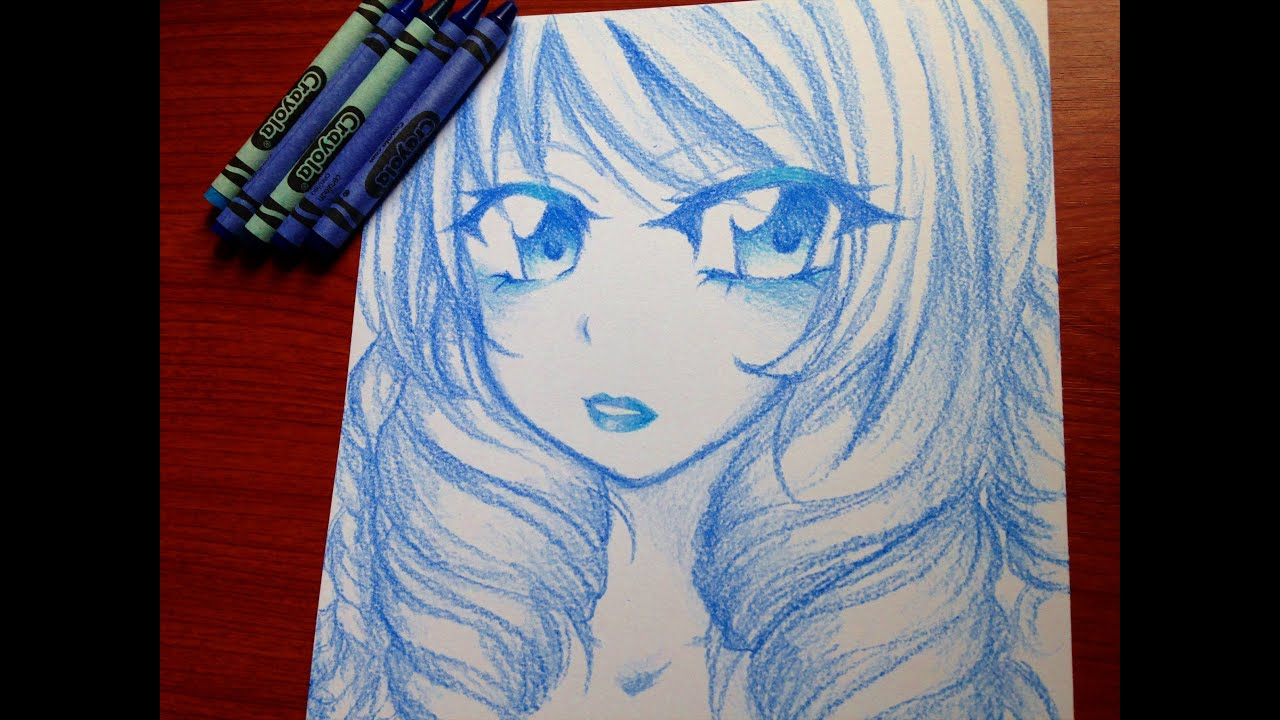 Manga Speedpaint: Coloring With Crayons