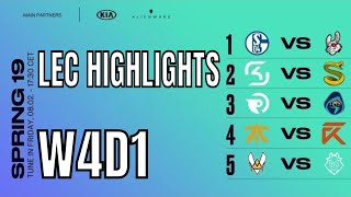 LEC Highlights ALL GAMES Week 4 Day 1 Spring 2019 | W4D1 League of Legends European Championship