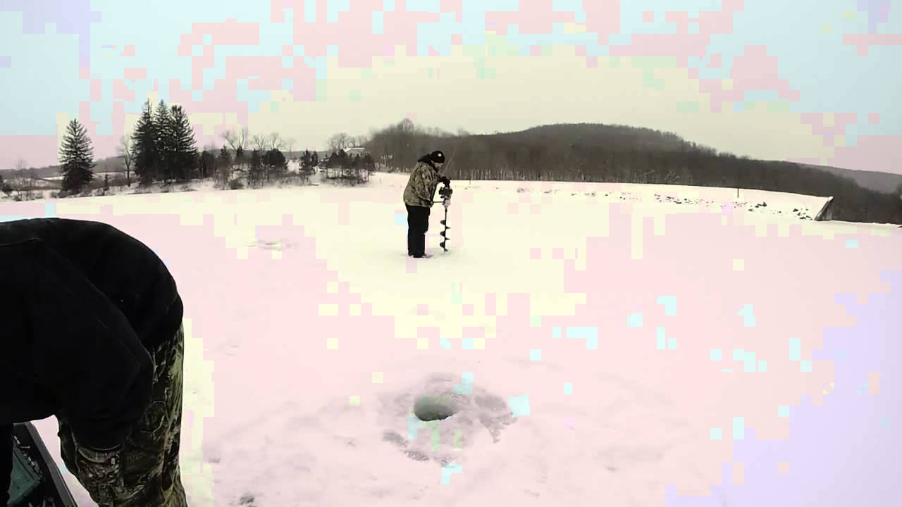 Ice fishing donegal lake pa 2015 youtube for Pa ice fishing