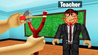 Going To HIGH SCHOOL In ROBLOX! (Trolling Teacher)