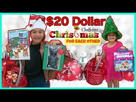 $20 CHRISTMAS SHOPPING CHALLENGE FOR EACH OTHER