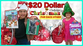 "$20 CHRISTMAS SHOPPING CHALLENGE FOR EACH OTHER ""TARGET"" SISTER FOREVER"