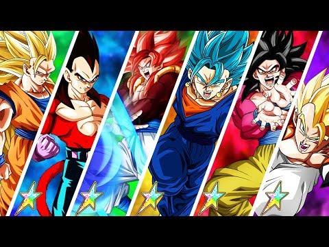 ALL RAINBOW STARS! 100% ULTIMATE HERO TEAM vs BOSS RUSH STAGE 5! Dragon Ball Z Dokkan Battle