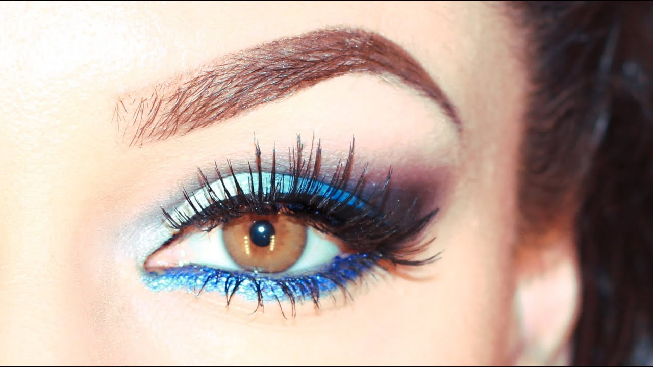 blaues augen makeup blue ocean smokey eyeshadow youtube. Black Bedroom Furniture Sets. Home Design Ideas