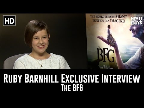 Ruby Barnhill Exclusive   The BFG