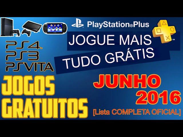 PSN Plus Jogos Grátis Para Junho de 2016 [ Lista OFICIAL ]