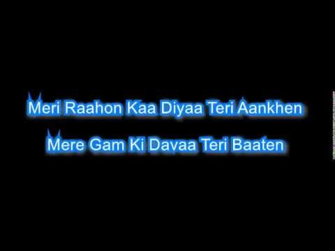 kahin na ja 1983  karaoke with lyrics