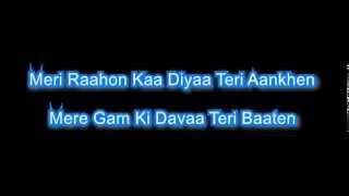 kahin na ja 1983 karaoke with lyrics