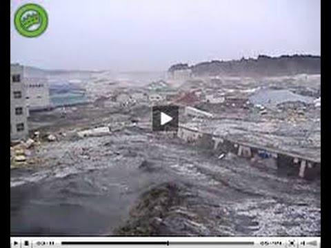 Tsunami Caught On Camera Japan 2015 - YouTube