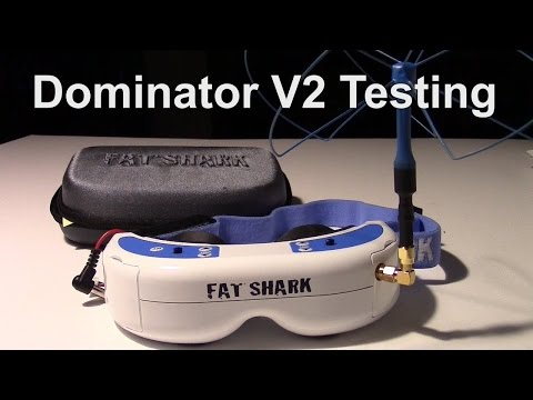 Fat Shark Dominator V2 goggles Review and internal DVR test.