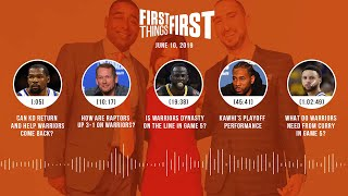 First Things First audio podcast(6.10.19)Cris Carter, Nick Wright, Jenna Wolfe | FIRST THINGS FIRST