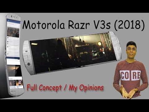 Motorola Razr V3s 2018 - Full Concept - My Opinions