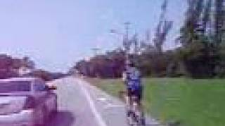 road bicyclists riding in boca raton florida on a1a