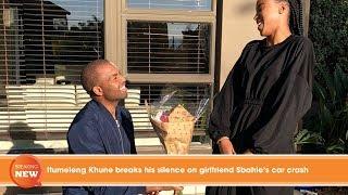 Hot new: Itumeleng Khune breaks his silence on girlfriend Sbahle's car crash
