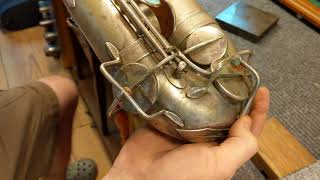 Saxophone Repair Topic: Repairing Some Typical Long Term Damage on an old Selmer Tenor, Part 3
