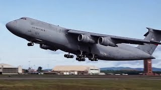 The Last C-5A Galaxy Goes To The Boneyard • Takeoff/Landing