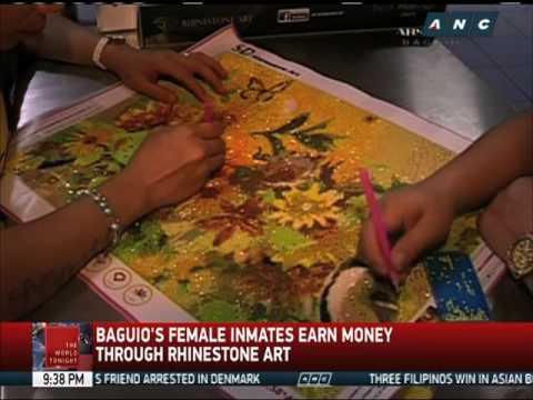 Baguio's female inmates earn money through rhinestone art