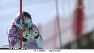 Lindsey Vonn Wins - Super G - Meribel