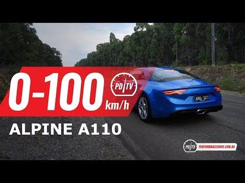 2019 Alpine A110 0-100km/h & Engine Sound