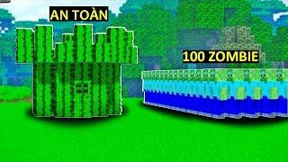 SlenderMan - (MÙA HÈ CỦA NOOB T11) NOOB XÂY NHÀ XƯƠNG RỒNG TIÊU DIỆT 100 CON ZOMBIE TRONG MINECRAFT
