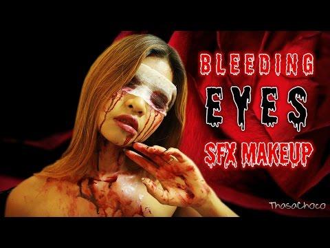 BLEEDING Makeup Tutorial SFX (Bloody Eye Halloween Make Up Tutorial)  (ซับไทย)