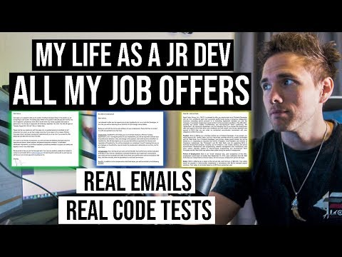 MY LIFE AS REAL JR. DEVELOPER | ALL JOB OFFERS & PROJECTS | SALARIES INCLUDED - #grindreel