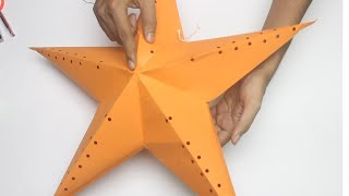 DIY How to make Star Lantern Kandil For Diwali & Christmas Decoration
