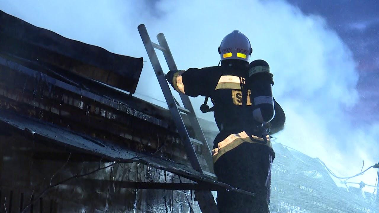 Pożar hali na terenie ZASTALu w Zielonej Górze