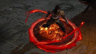 Path of Exile: Lava Aura Effect