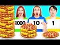 100 تحدي طبقات الطعام #4