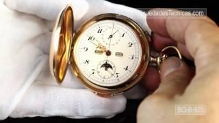 d1d575ccb Reloj de bolsillo Antiguo Oro de 14 K con sonería de cuartos, cronómetro,  calendario.... by Jose ...