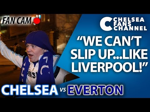 """WE CAN'T SLIP UP...LIKE LIVERPOOL!"" - Chelsea 1-0 Everton - FAN CAM"