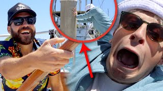 ALMOST CRASHED OUR BOAT INTO A POLE! (vlog)