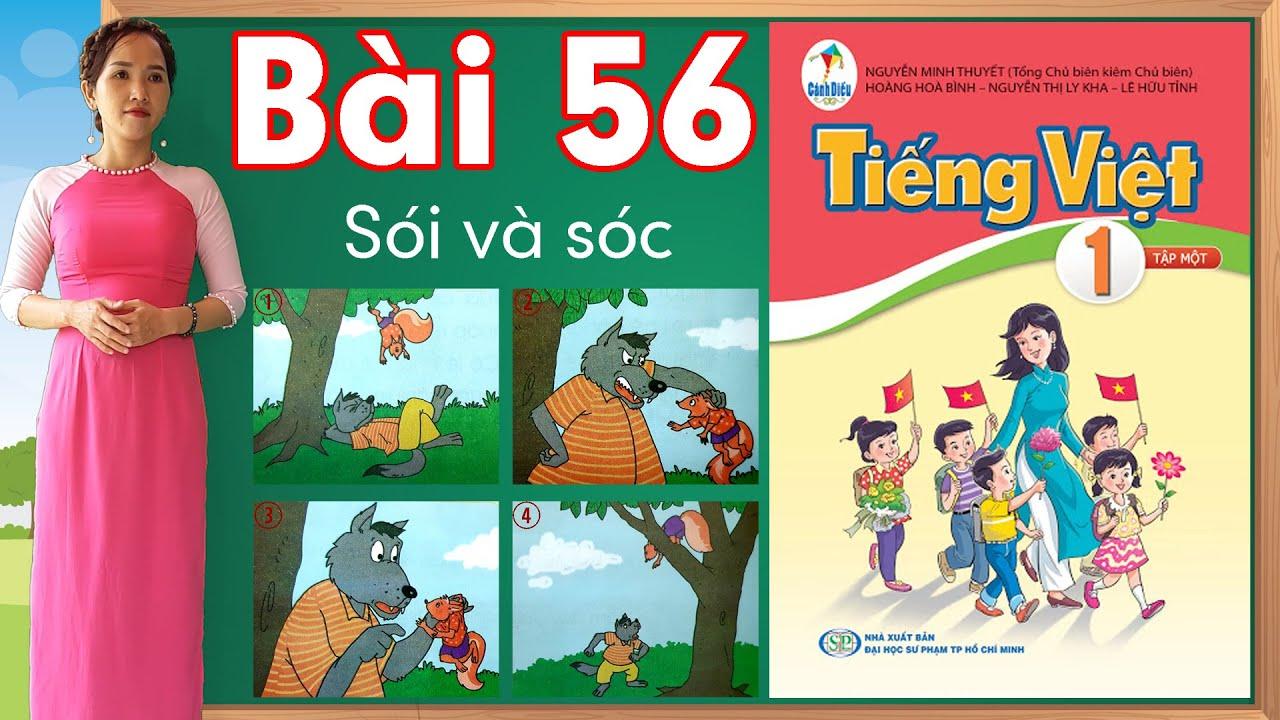Tiếng việt lớp 1 sách cánh diều - Bài 56 |Kể chuyện Sói và Sóc |learn vietnamese
